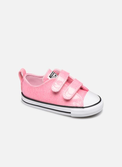 Baskets Converse Chuck Taylor All Star 2V Coated Glitter Ox Rose vue détail/paire