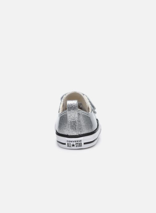 Baskets Converse Chuck Taylor All Star 2V Coated Glitter Ox Argent vue droite