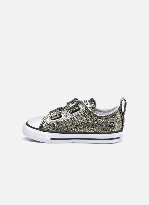 Baskets Converse Chuck Taylor All Star 2V Coated Glitter Ox Or et bronze vue face