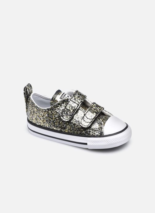 Baskets Converse Chuck Taylor All Star 2V Coated Glitter Ox Or et bronze vue détail/paire