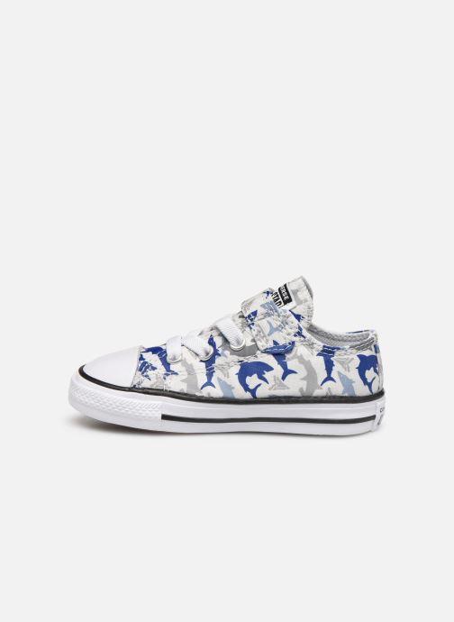Sneakers Converse Chuck Taylor All Star 1V Shark Bite Ox Hvid se forfra