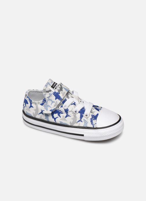 Sneakers Converse Chuck Taylor All Star 1V Shark Bite Ox Hvid detaljeret billede af skoene