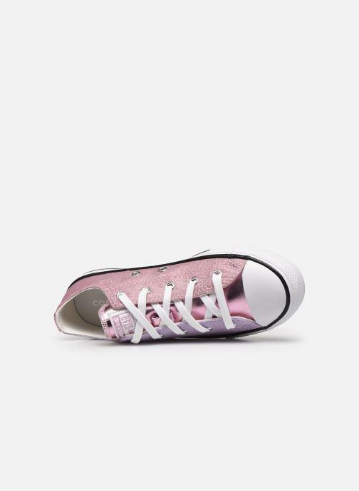Sneakers Converse Chuck Taylor All Star Metallic Ox Lilla se fra venstre