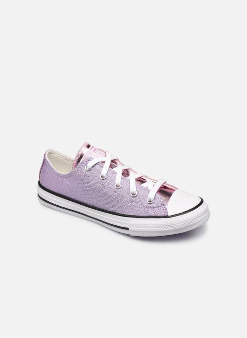 Sneakers Converse Chuck Taylor All Star Metallic Ox Lilla detaljeret billede af skoene