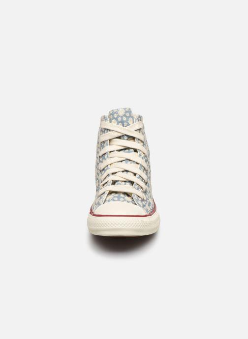 Baskets Converse Chuck Taylor All Star Little Miss Chuck Hi Bleu vue portées chaussures