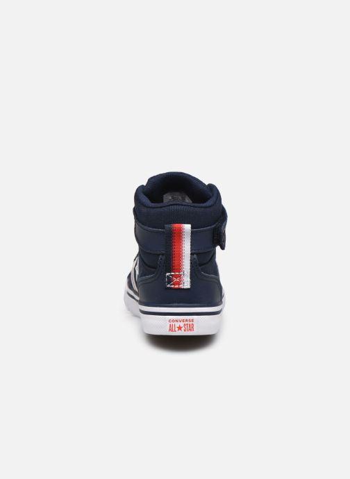 Baskets Converse Pro Blaze Strap Textile Distort Hi J Bleu vue droite