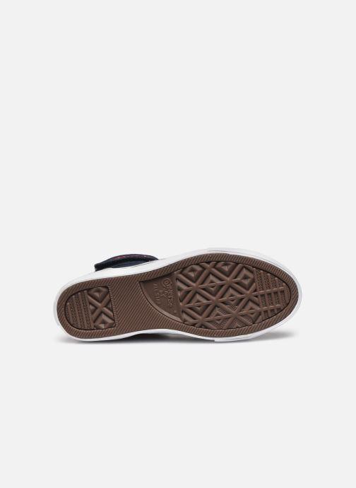 Baskets Converse Pro Blaze Strap Textile Distort Hi J Bleu vue haut