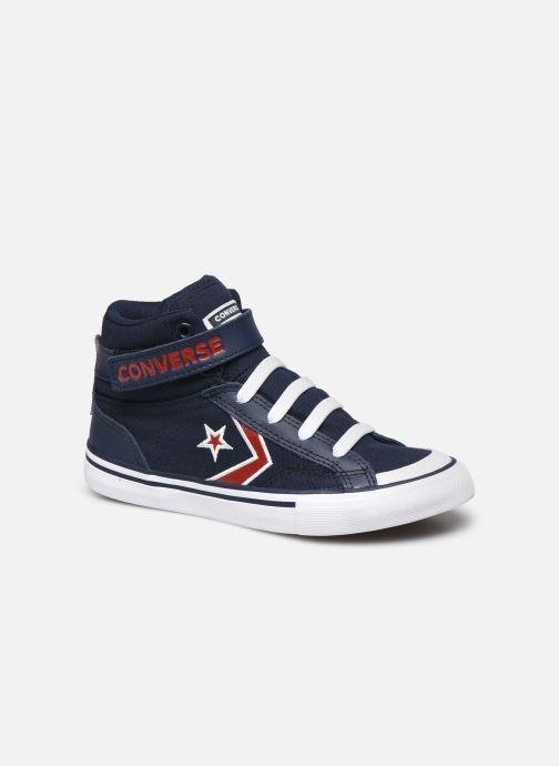 Baskets Converse Pro Blaze Strap Textile Distort Hi J Bleu vue détail/paire