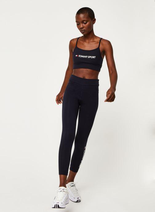 Vêtements Tommy Sport Co/El Low Support Bra Bleu vue bas / vue portée sac