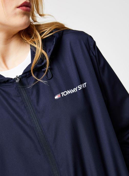 Vêtements Tommy Sport Windbreaker Back Logo W Bleu vue face
