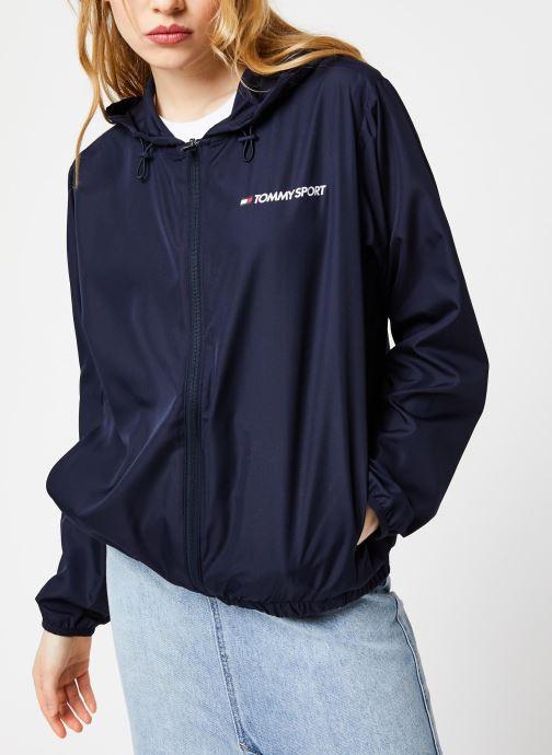 Vêtements Tommy Sport Windbreaker Back Logo W Bleu vue droite