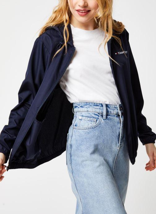 Vêtements Tommy Sport Windbreaker Back Logo W Bleu vue détail/paire