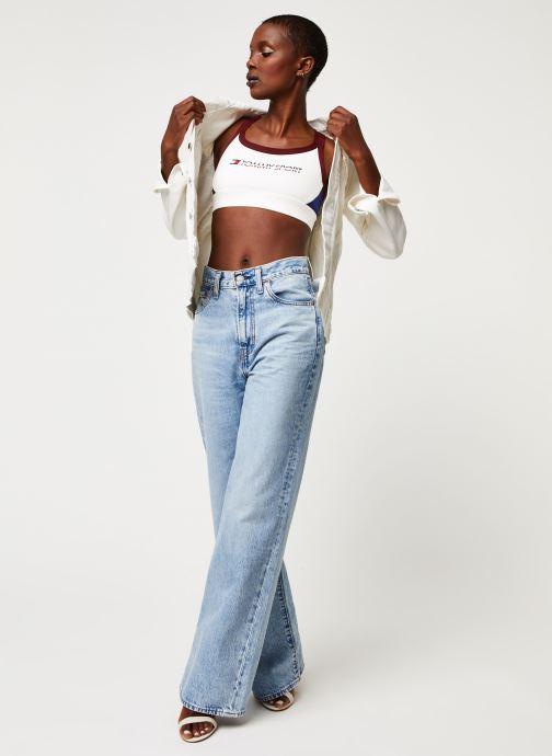 Vêtements Tommy Sport Co/ El Low Support Bra Logo Blanc vue bas / vue portée sac