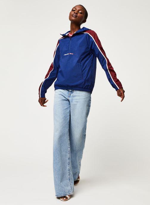 Vêtements Tommy Sport Half Zip Windbreaker W Bleu vue bas / vue portée sac