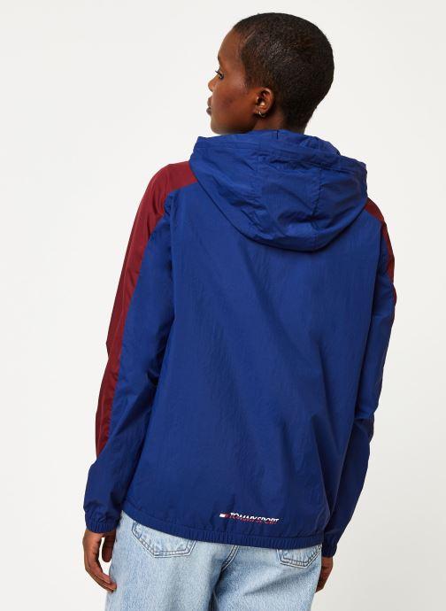 Vêtements Tommy Sport Half Zip Windbreaker W Bleu vue portées chaussures