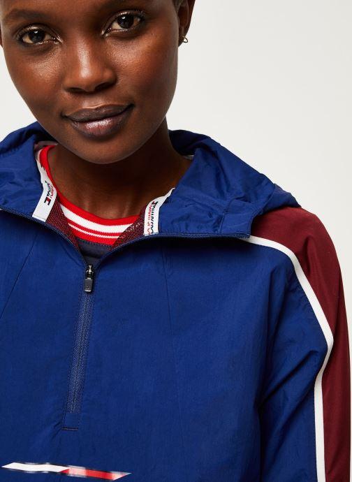 Vêtements Tommy Sport Half Zip Windbreaker W Bleu vue face