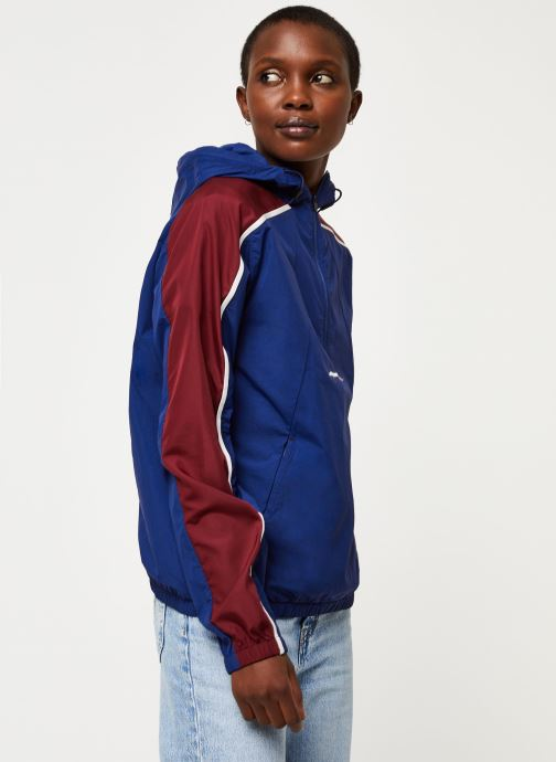 Vêtements Tommy Sport Half Zip Windbreaker W Bleu vue droite