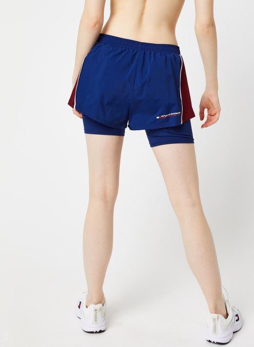 Vêtements Tommy Sport 2-In-1 Woven Shorts W Bleu vue portées chaussures