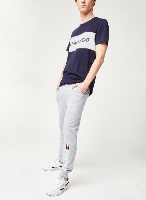 Vêtements Tommy Sport Cuff Fleece Pant Hbr Logo Gris vue bas / vue portée sac
