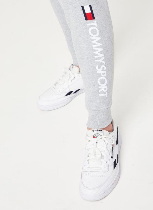 Vêtements Tommy Sport Cuff Fleece Pant Hbr Logo Gris vue face