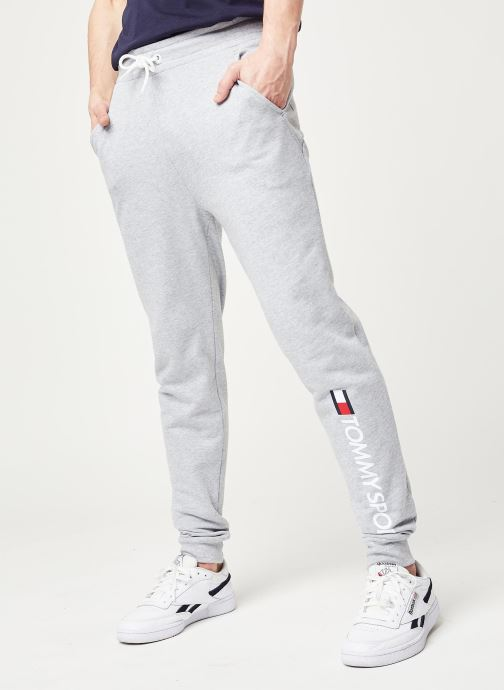 Vêtements Tommy Sport Cuff Fleece Pant Hbr Logo Gris vue détail/paire