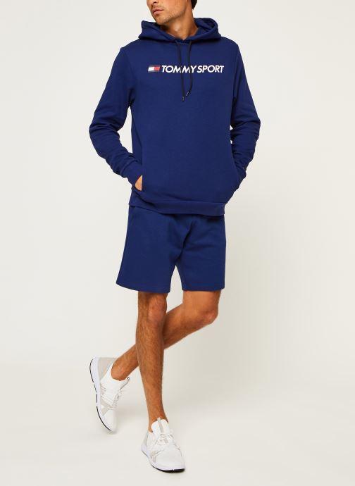 Vêtements Tommy Sport Fleece Hoody Logo Hbr Bleu vue bas / vue portée sac
