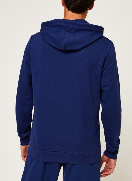 Vêtements Tommy Sport Fleece Hoody Logo Hbr Bleu vue portées chaussures