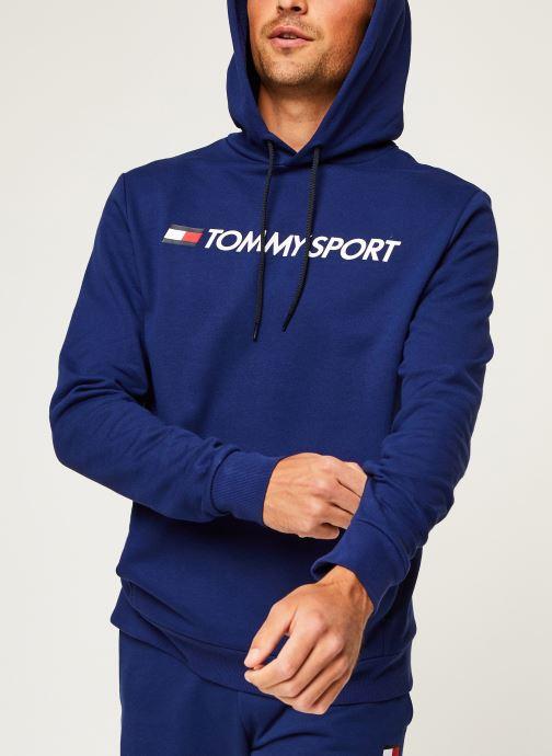 Vêtements Tommy Sport Fleece Hoody Logo Hbr Bleu vue détail/paire