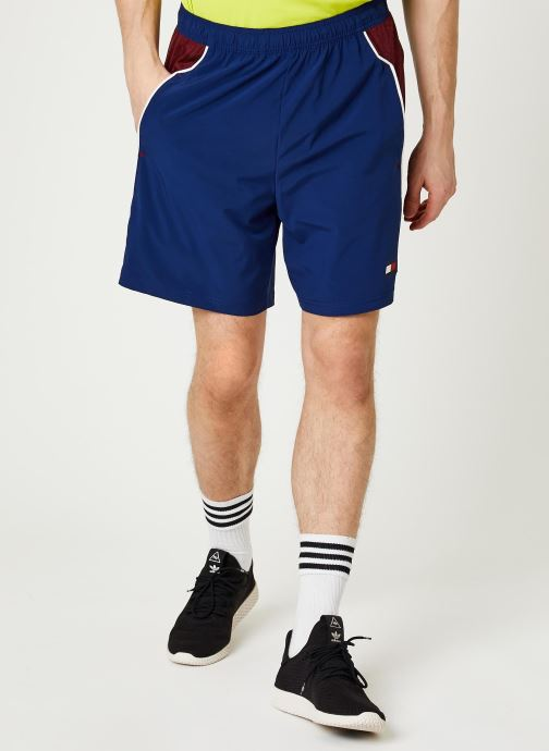 Vêtements Tommy Sport Vent Colourblock Woven Short 7' Bleu vue détail/paire