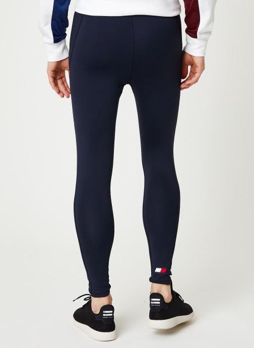 Vêtements Tommy Sport Mesh Legging Bleu vue portées chaussures