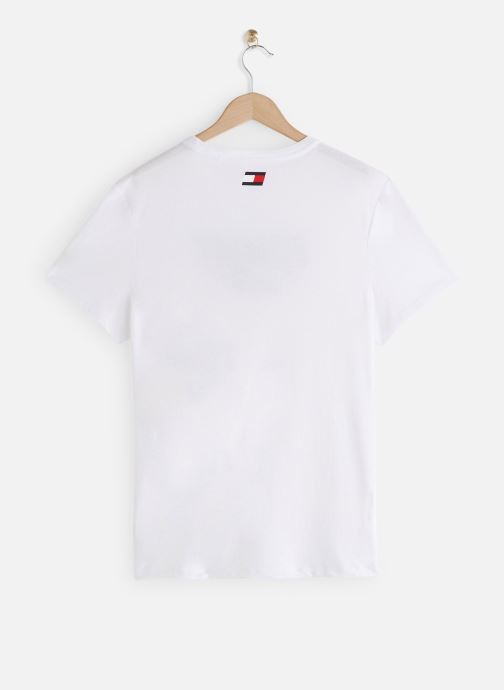 Vêtements Tommy Sport Printed Tee Blanc vue bas / vue portée sac