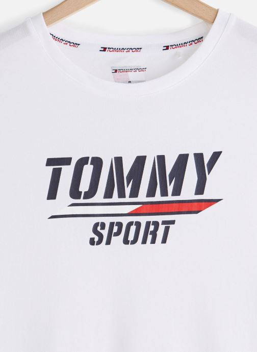 Vêtements Tommy Sport Printed Tee Blanc vue portées chaussures