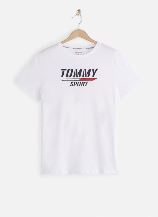 Vêtements Tommy Sport Printed Tee Blanc vue détail/paire