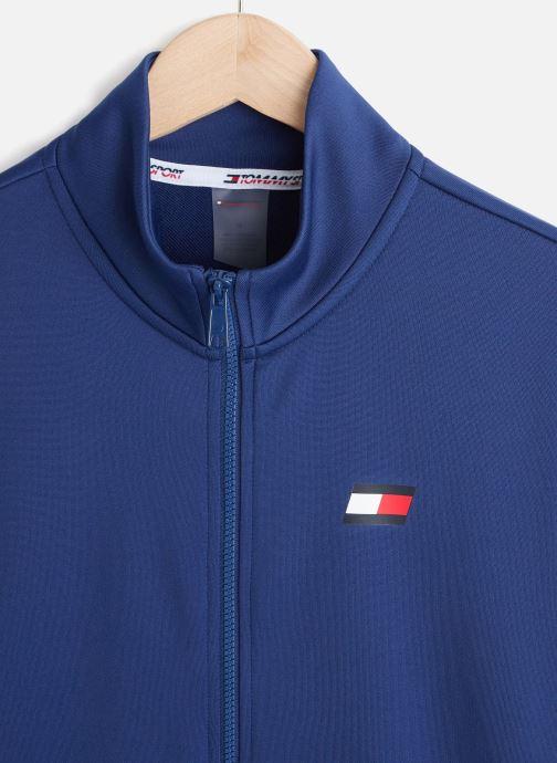 Vêtements Tommy Sport Printed Track Jkt Bleu vue portées chaussures