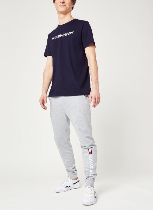 Vêtements Tommy Sport Chest Logo Top Bleu vue bas / vue portée sac