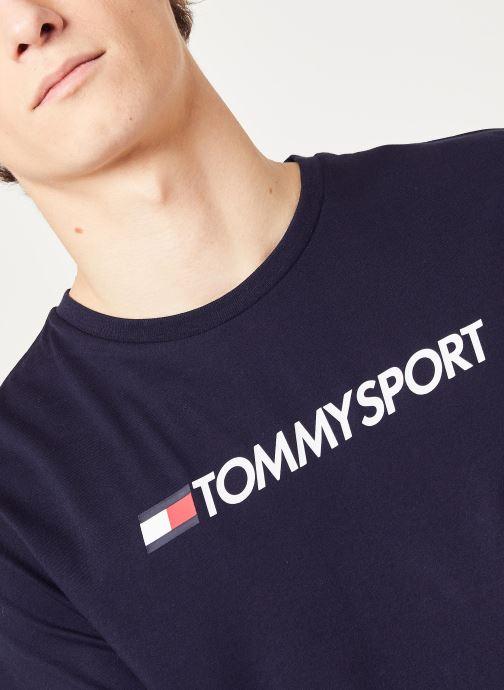 Vêtements Tommy Sport Chest Logo Top Bleu vue face