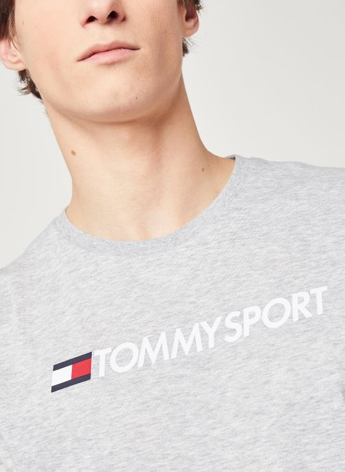 Vêtements Tommy Sport Chest Logo Top Gris vue face