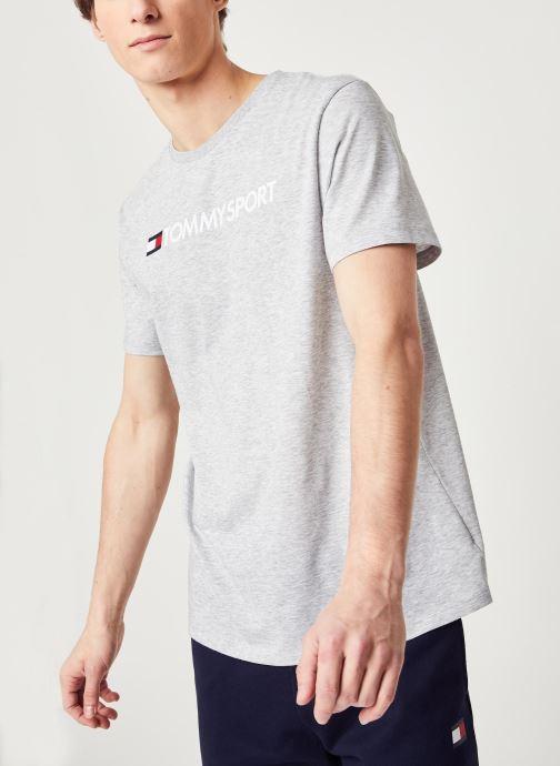 Vêtements Tommy Sport Chest Logo Top Gris vue droite