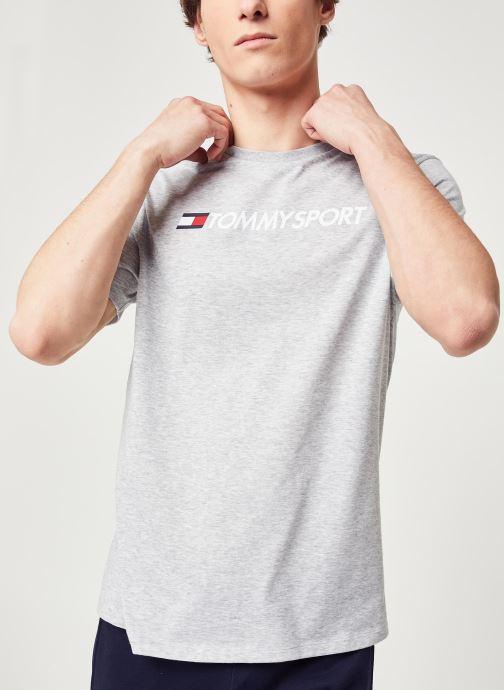 Vêtements Tommy Sport Chest Logo Top Gris vue détail/paire