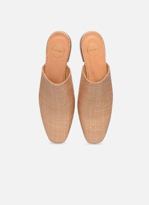 Zoccoli Made by SARENZA Riviera Couture Mules #2 Beige modello indossato