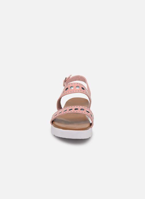 Sandales et nu-pieds Xti 56655 Rose vue portées chaussures