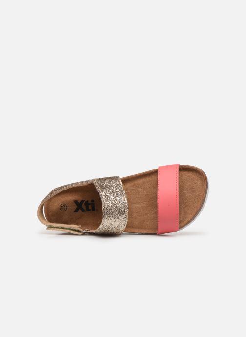 Sandales et nu-pieds Xti 56863 Or et bronze vue gauche