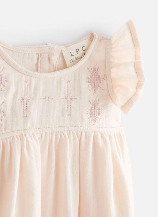 Vêtements Les Petites Choses Robe en gaze REHANNE Rose vue portées chaussures