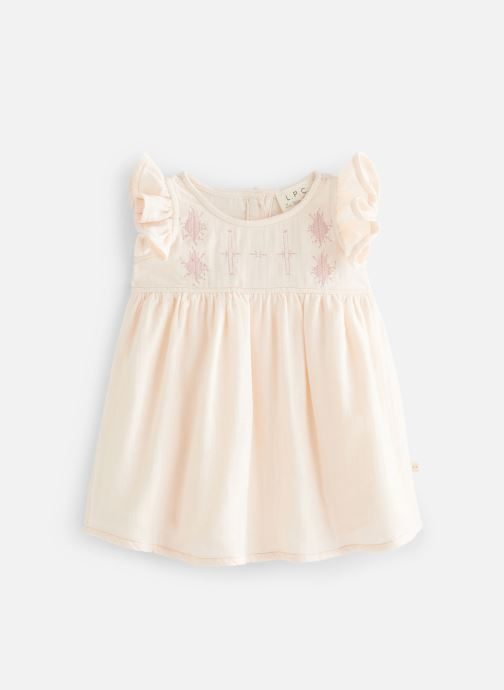 Vêtements Les Petites Choses Robe en gaze REHANNE Rose vue détail/paire