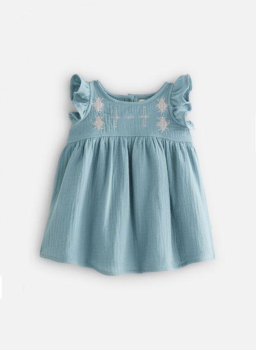 Vêtements Les Petites Choses Robe en gaze REHANNE Vert vue détail/paire