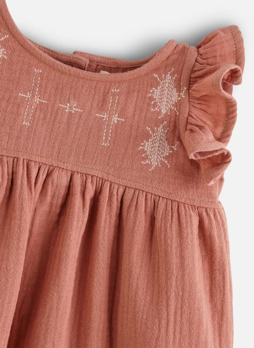Vêtements Les Petites Choses Robe en gaze REHANNE Marron vue portées chaussures