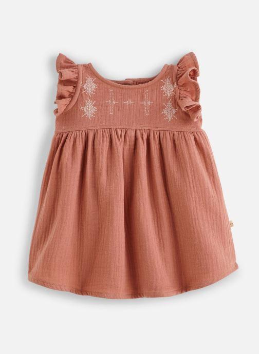 Vêtements Les Petites Choses Robe en gaze REHANNE Marron vue détail/paire