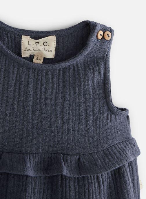 Vêtements Les Petites Choses Blouse en gaze BASHA Bleu vue portées chaussures