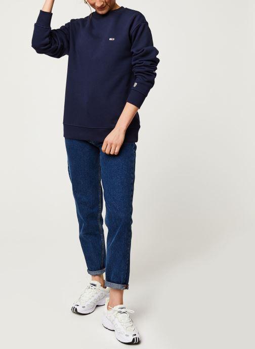 Vêtements Tommy Jeans TWJ Tommy Classics Sweatshirt Bleu vue bas / vue portée sac