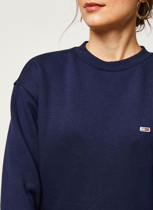 Vêtements Tommy Jeans TWJ Tommy Classics Sweatshirt Bleu vue face